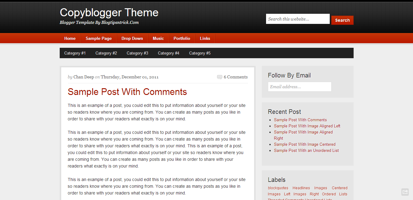 copyblogger clean responsive blogger template