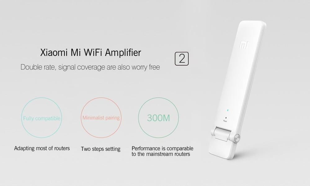 xiaomi wifi 2 sinyal yukseltici 300 mbps-