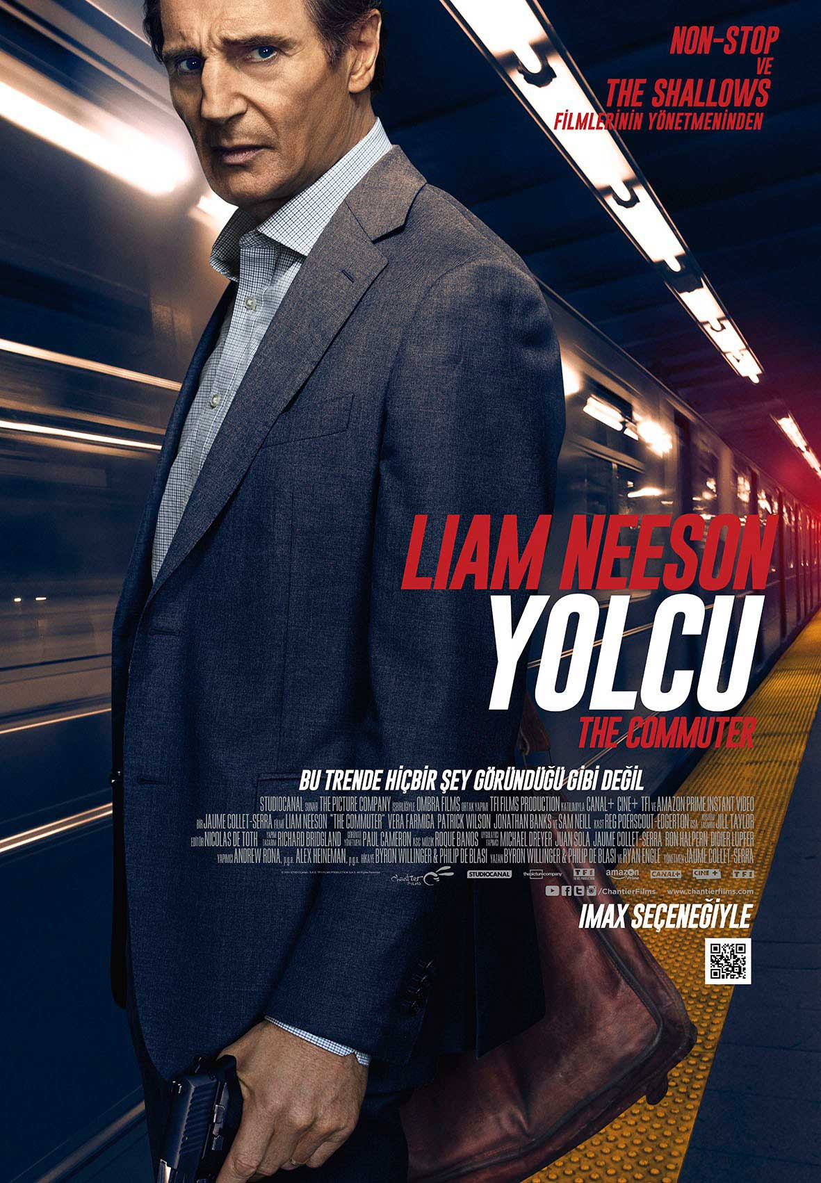 yolcu the commuter filmi afişi