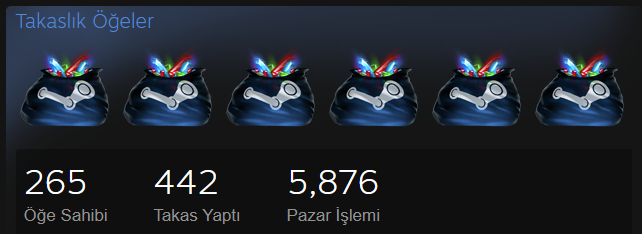 steam takaslık öğeler