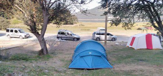 abant gölünde kamp