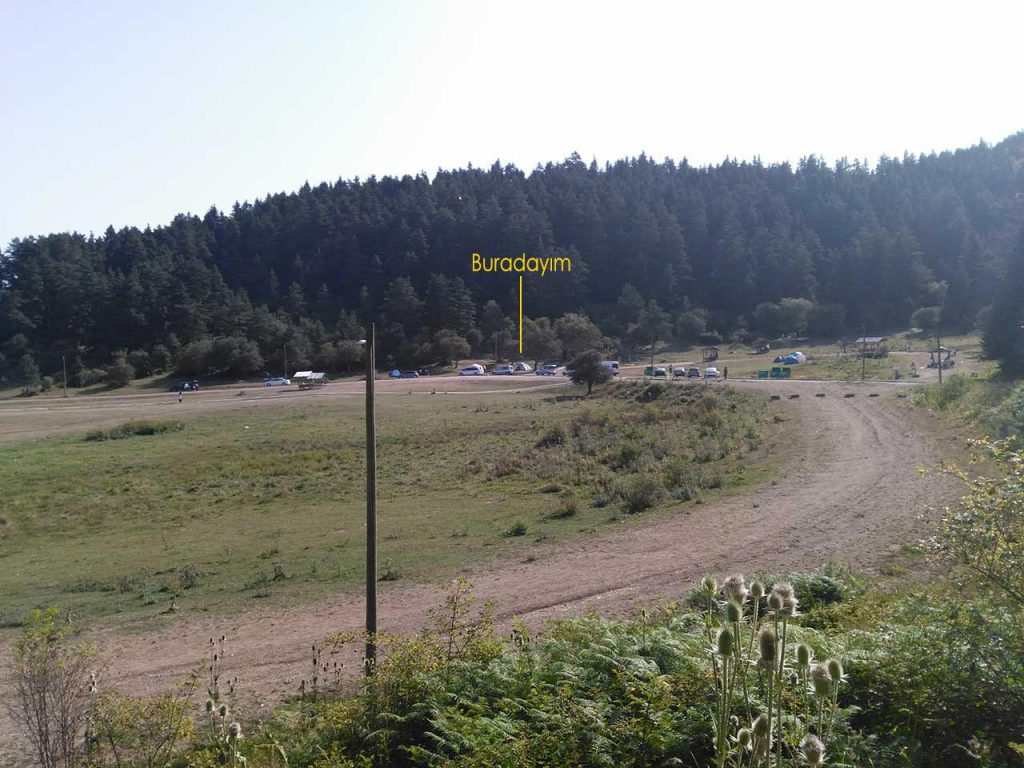 abant gölünde kamp alanı