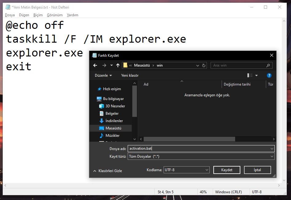 windowsu etkinleştir yazısı kaldırma işlemi nasıl yapılır